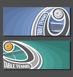 Banners for table tennis vector