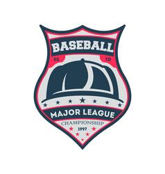 baseball major league championship vintage label vector image vector image