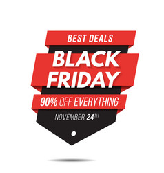 Black friday label price tag sale banner badge vector