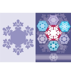 Christmas card with snowflakes geometric design vector image vector image