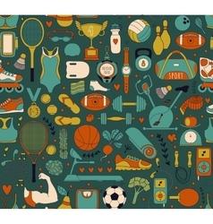 Doodle sports elements vector
