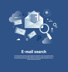 email search template web banner with copy space vector image vector image