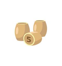 Flat bingo lotto game kegs barrels vector