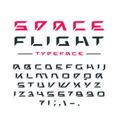 Futuristic font in cosmic style vector