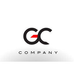 gc logo letter design vector image vector image