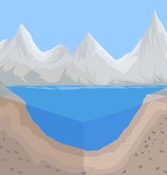 Geology river floor vector