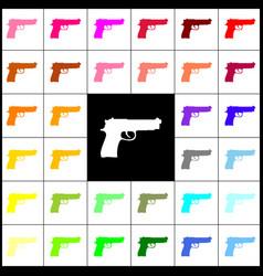 Gun sign felt-pen 33 vector