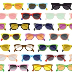 Hipster sunglasses background vector
