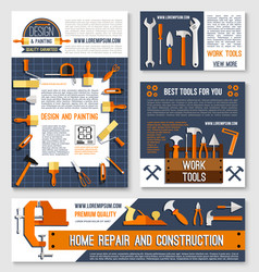 home repair construction tool poster template set vector image