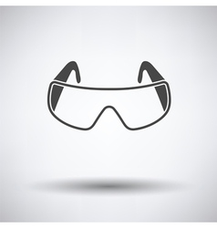 Icon of chemistry protective eyewear vector image vector image