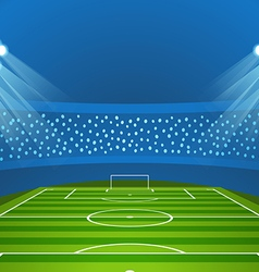 Light stadium mast Stadium with green footb vector image