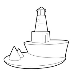 Lighthouse icon outline style vector