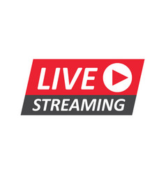 Live stream sign emblem logo vector