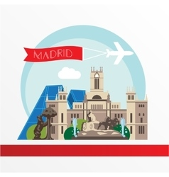 Madrid detailed silhouette Trendy vector image