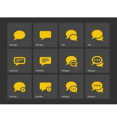 Message bubble icons vector