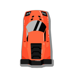 Modern sport car top view icon vector