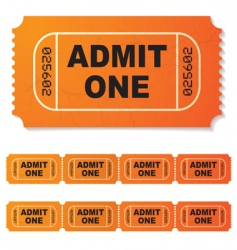 movie ticket vector image vector image
