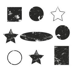 Oval grunge label retro frames for emblems vector