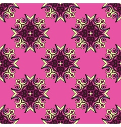 Pink Festive Abstract Pattern vector image vector image
