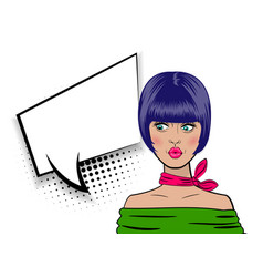 pop art cartoon comic sexy woman vector image vector image