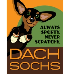 Poster funny dachshund dog vector