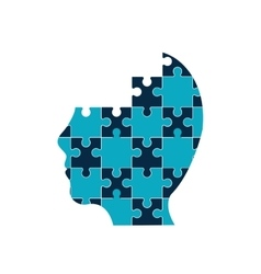 puzzle head jigsaw game figure icon vector image vector image
