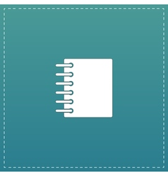 Ring binder calendar notepad - icon isolated vector