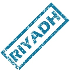Riyadh rubber stamp vector