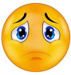 Sad smiley emoticon vector image vector image