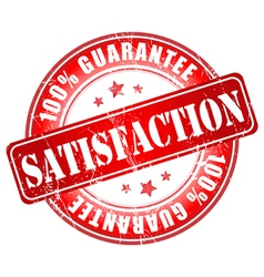 Satisfaction red stamp vector
