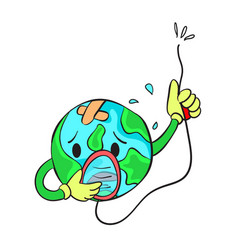 Save earth from bad environment doodle vector