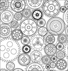 seamless gear and cogwheel background vector image vector image