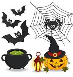 Set of icon halloween vector