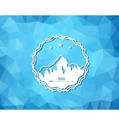 Ski Resort Logo vector image