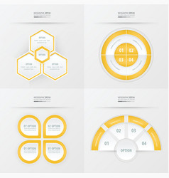 Template design 4 item yellow color vector