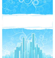 urban spirals advert background vector image vector image
