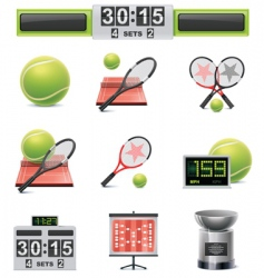 vector tennis icon set vector image vector image