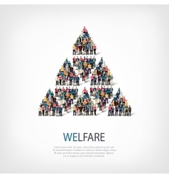 Welfare people sign vector
