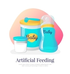 Artificial feeding goods vector