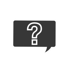 Question mark bubble ask why icon graphic vector