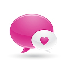 Pink and white message of love icons vector