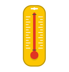 Yellow thermometer icon isolated vector