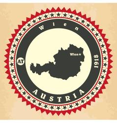 Vintage label-sticker cards of austria vector