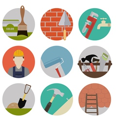 Repire flat icons vector image