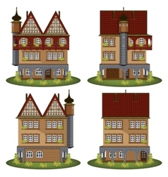 Set of the old style houses vector