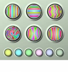 Silk buttons vector