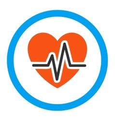 Heart diagram rounded icon vector