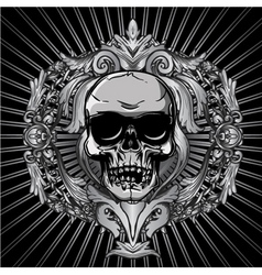 vintage design with skull vector image