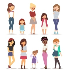 Sad girls vector image