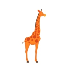 Giraffe realistic simplified drawing vector